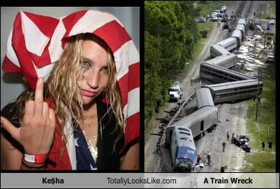 A Train Wreck,keha,musician,Trainwreck