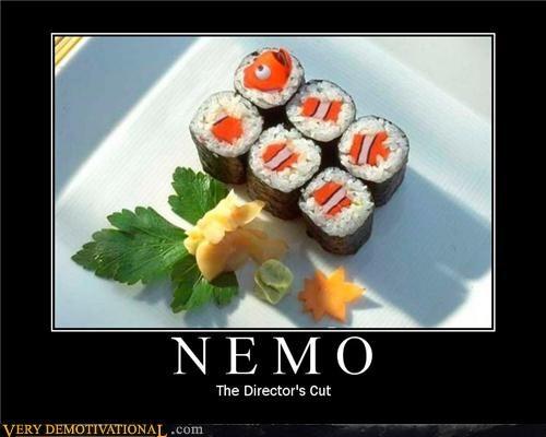 animals food hilarious NEMO pixar Sad sushi - 3501980672