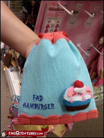 fad hamburger towel - 3503505152