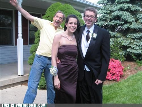 dad,formal,photobomb,prom,whacky times