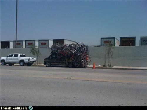 bicycles Mission Improbable overkill tied together too many van - 3503723008