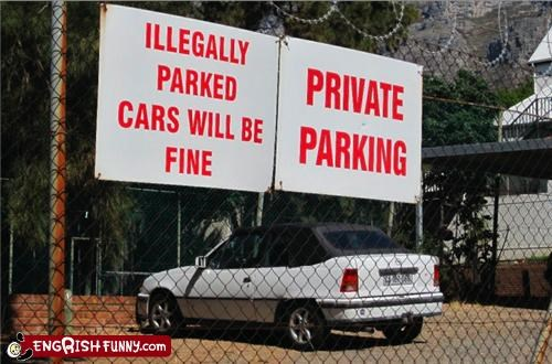 cars fine lot parking private sign Unknown