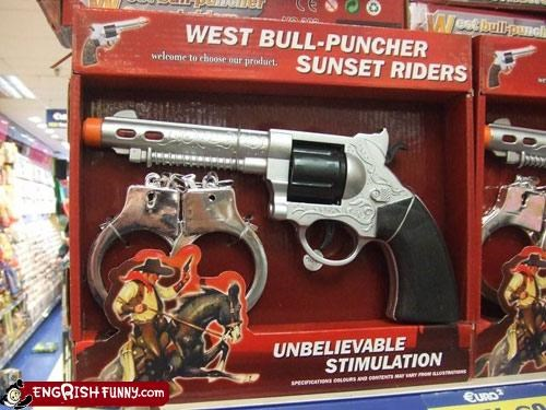 bull cowboy punching toy Unknown