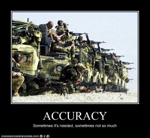 ACCURACY Sometimes it's needed, sometimes not so much