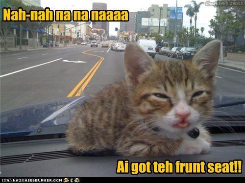 Nah-nah na na naaaa Ai got teh frunt seat!! Chech1965 090510