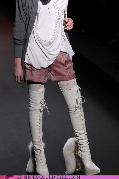 Animalia boots fox foxy pants functional lace up PETA-friendly - 3509881600
