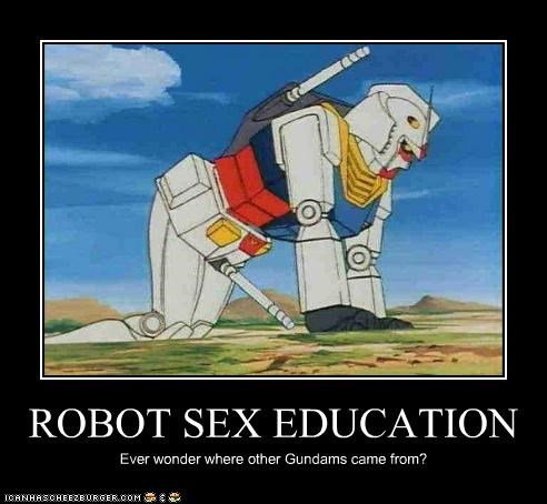 ROBOT SEX EDUCATION Ever wonder where other Gundams came from?