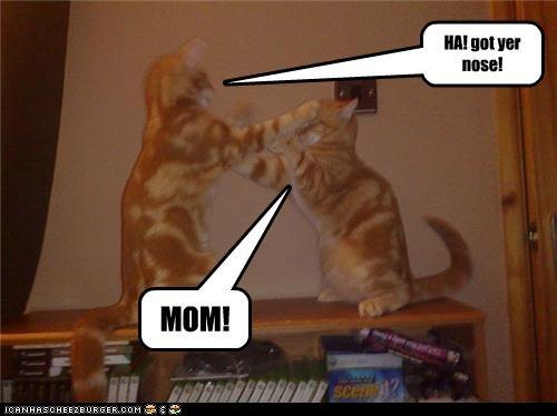 HA! got yer nose! MOM!