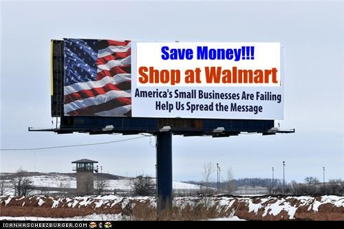 barack obama,billboard,business,impeachment,signs,teabaggers,wal mart