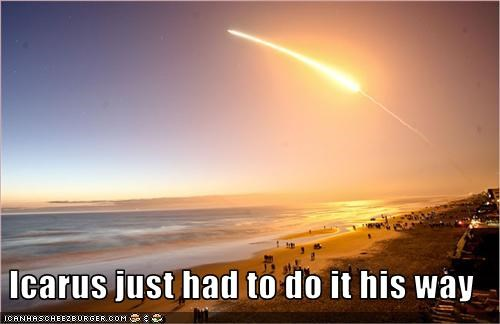 awesome beach Icarus launch mythology nasa space space shuttle - 3512818688