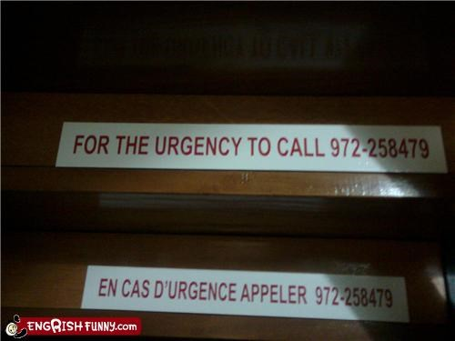 emergency g rated phone sign Unknown urgent