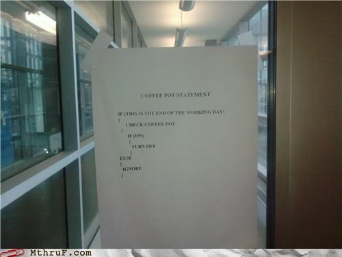 basic instructions boredom clever cubicle boredom depressing dickhead co-workers fridge politics java lazy nerds office kitchen paper signs passive aggressive programming Sad sass screw you signage syntax wiseass - 3513395200