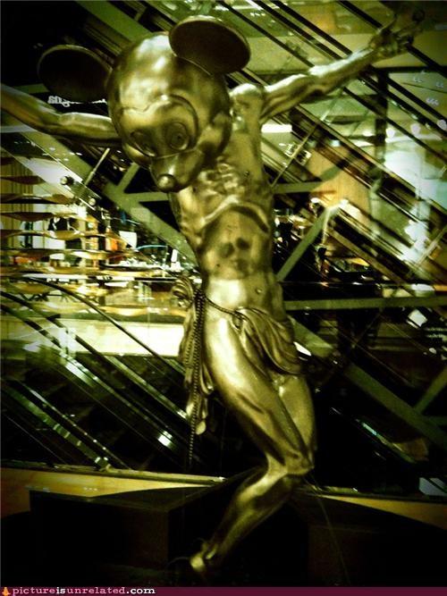 hallucination jesus mickey mouse silver wtf - 3513617408