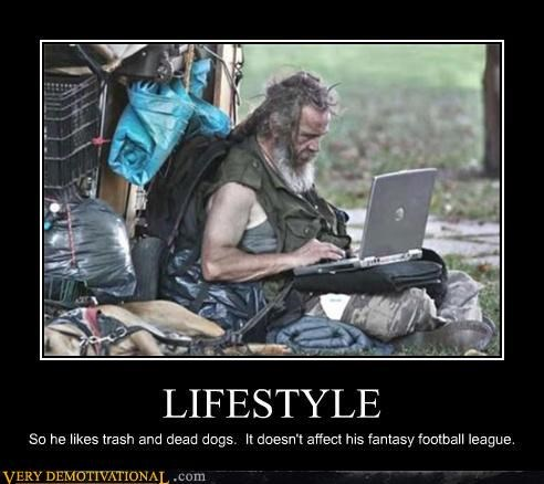 computers dude-youre-getting-a-dell fantasy football homeless guy just-kidding-relax the dog is alive its a joke people the internet - 3513780480