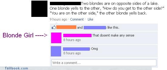 blondes facepalm jokes your friends are laughing at you - 3513837568
