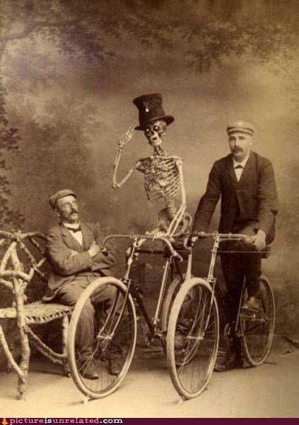 bicycle,dead tired,old,skeleton,vintage,wtf