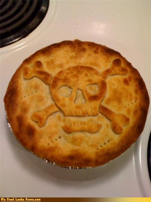 chicken pot pie,meat,poison,poisoned pie,pot pie,skull and cross bones