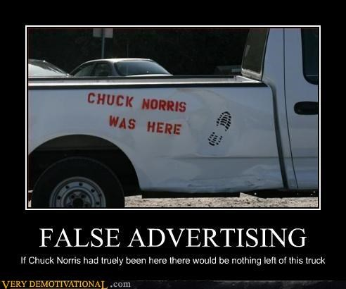 chuck norris destruction lies Pure Awesome trucks