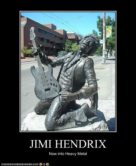 JIMI HENDRIX Now into Heavy Metal