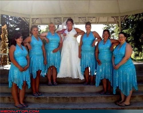 bridesmaids Crazy Brides eww fashion is my passion flippy floppies hideous poor decision making surprise tacky ugly bridesmaid dresses unflattering wedding party wtf - 3515512064