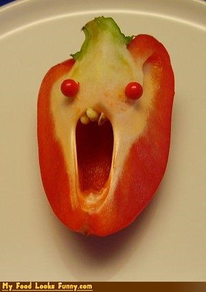 crazy freak out FRIDAY fruits-veggies pepper red pepper TGIF - 3515974912