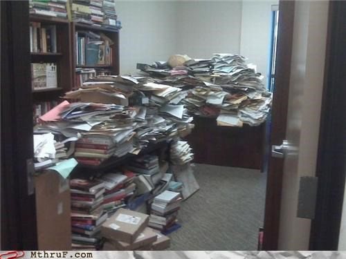 awesome co-workers not books boredom buried crapola cubicle fail cubicle prank decoration depressing dickhead co-workers disaster disaster zone ergonomics gross lazy mess Office papers piles prank pwned ridiculous Sad sass screw you super mess wiseass - 3516222208