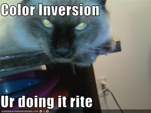 Color Inversion  Ur doing it rite