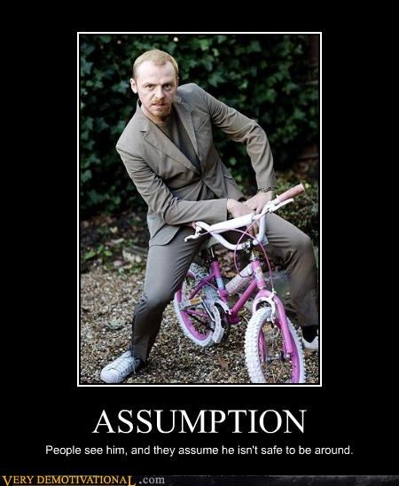 ASSUMPTION People see him, and they assume he isn't safe to be around.