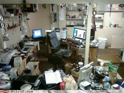 beer boogers cubicle fail depressing disaster zone dump gross lazy mess osha pig sty Sad slob Terrifying - 3519086592