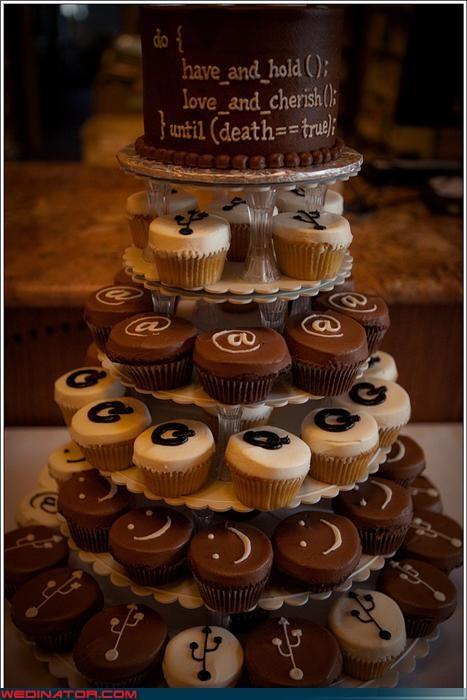 cupcakes Dreamcake nerds Sheer Awesomeness themed wedding cake Wedding Themes - 3519607808