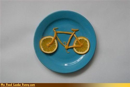 bicycle bike fruits-veggies hipsters orange orange bike - 3519961344