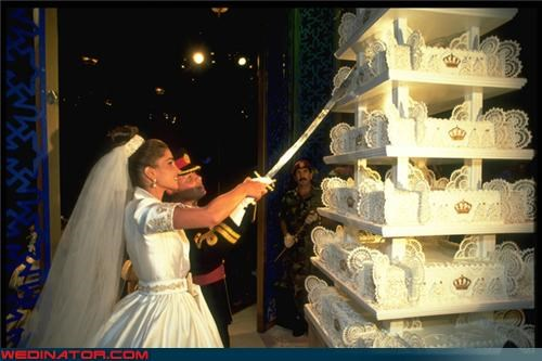 bridezilla,cake tower,Crazy Brides,crazy groom,crazy wedding cake,Dreamcake,fashion is my passion,hugest cake ever,surprise,sword,technical difficulties,Wedding Themes,wtf