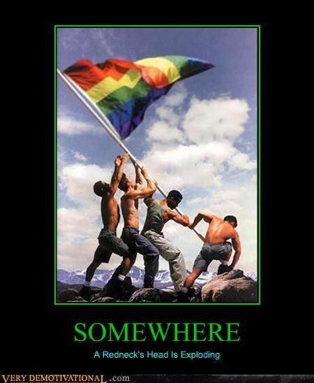 flags gays hilarious Prop 8 Pure Awesome WWII - 3522522624