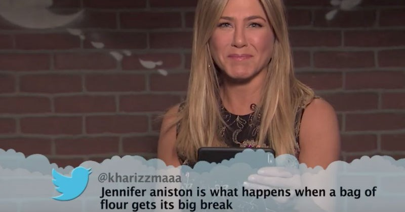 18 celebrities read mean tweets about themselves.
