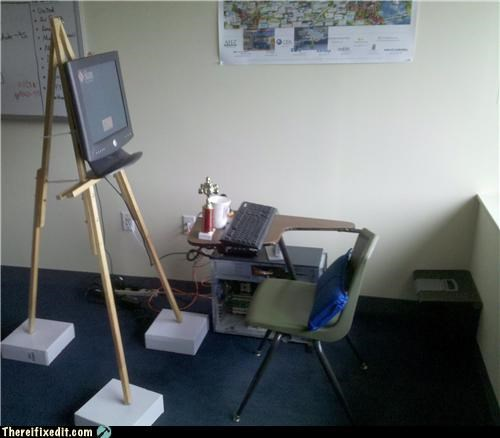 classroom computer easel learning school