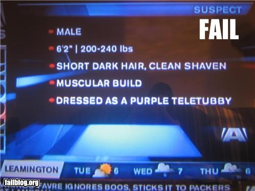 disguise failboat g rated news suspect teletubby - 3525325824