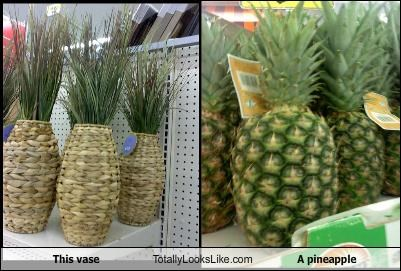 decorations food fruit pineapple vase