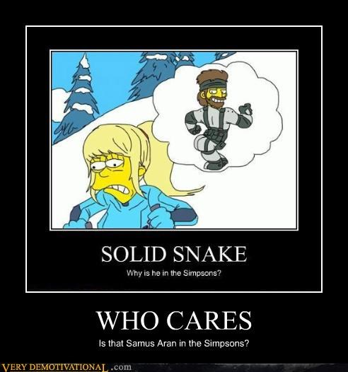 WHO CARES Is that Samus Aran in the Simpsons?