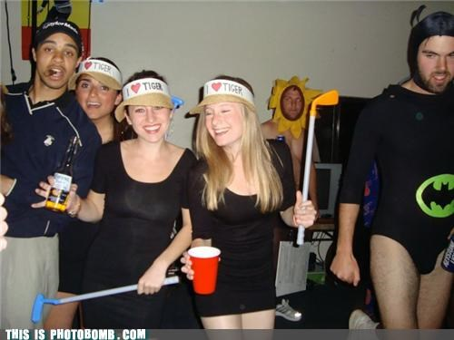 bumble bee costume Good Times Party Tiger Woods