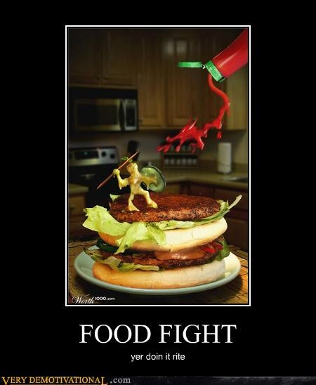 food fight,doing it right