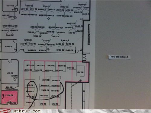 cubicle fail depressing floor plan hell layout map official sign paper signs purgatory Sad signage Terrifying void - 3530672896