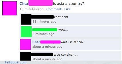 Continent or Country