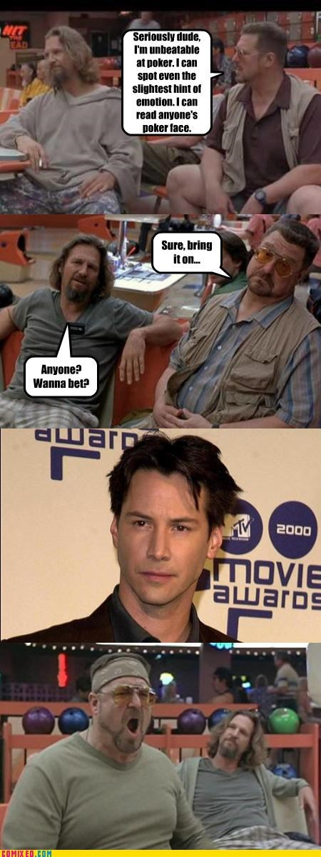 contests,From the Movies,john goodman,keanu reeves,neo,the big lebowski,walter
