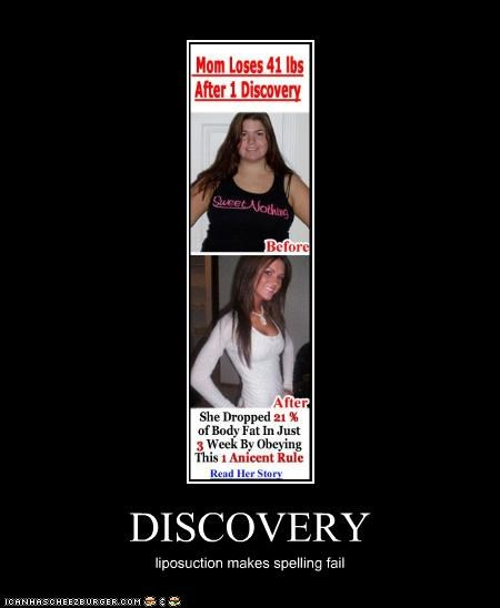 DISCOVERY liposuction makes spelling fail
