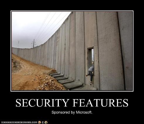 SECURITY FEATURES Sponsored by Microsoft.