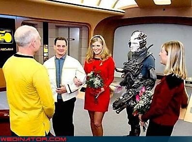 Crazy Brides crazy groom fantastic voyage fashion is my passion hot bride nerds Star Trek themed wedding party Trekkies were-in-love Wedding Themes - 3534585856