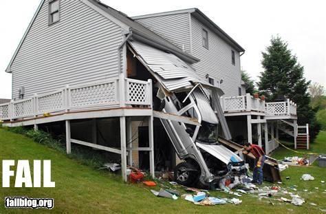 broken car crash failboat garage - 3534900736