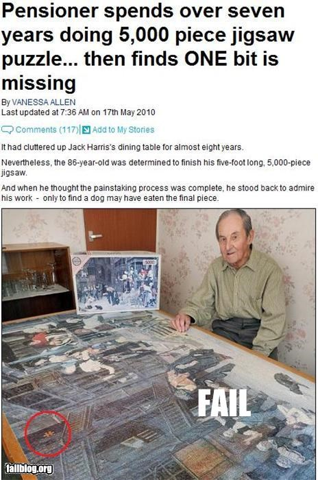 failboat frustration g rated missing old guy piece puzzle - 3535099904