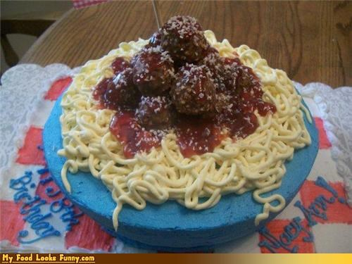 cake meatballs pasta spaghetti spaghetti and meatballs spaghetti cake sugar Sweet Treats