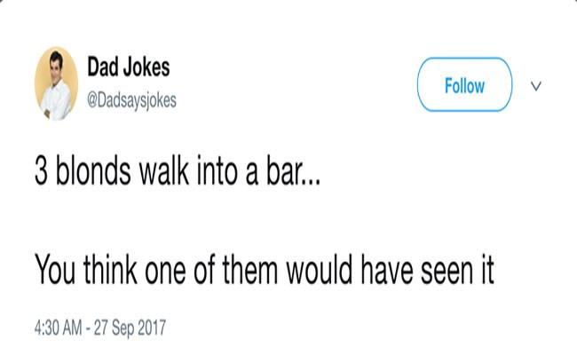 a funny dad joke list